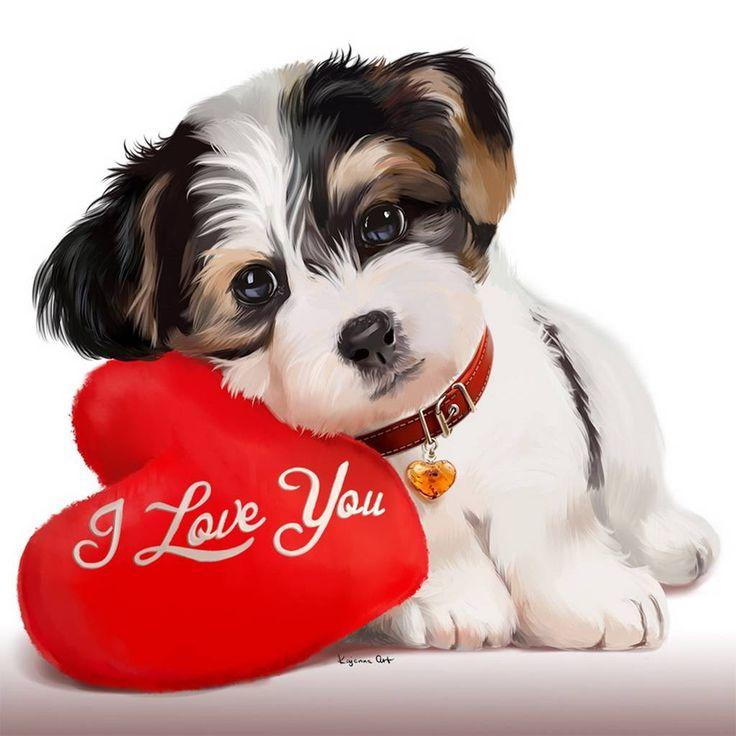 Для открытки, картинка с надписью продам щенки