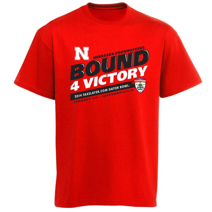 Nebraska Cornhuskers 2014 Gator Bowl Bound For Victory T-Shirt - Scarlet