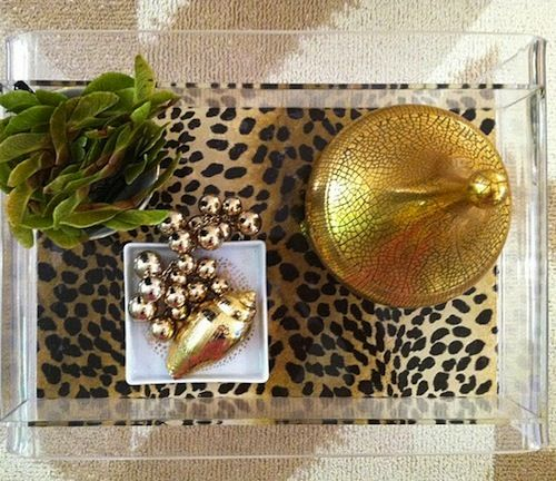 leopard lucite tray: Trays, Lucite Tray, Leopard Print, Sanity Fair, Craft, Container Store, Store Hack, Diy