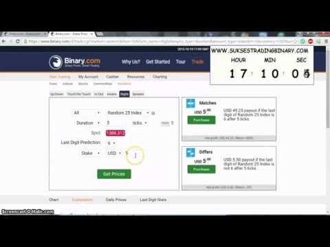 Trik Trading Binary.com Digit Matches Random 25 ldp 6 OP pada Detik ke 20 ~ Gratis Panduan Sukses Trading Binary.com