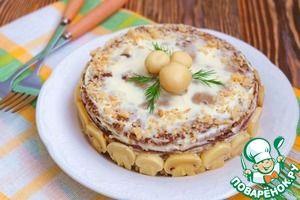 """Рецепт: Торт-салат """"Печеночно-ореховый"""""""