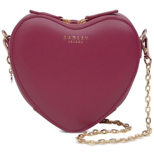 Radley London Love Lane Zip-Top Small Crossbody (185 CAD) ❤ liked on Polyvore featuring bags, handbags, shoulder bags, berry, chain shoulder bag, crossbody purse, zip top handbags, purple crossbody purse and cross-body handbag