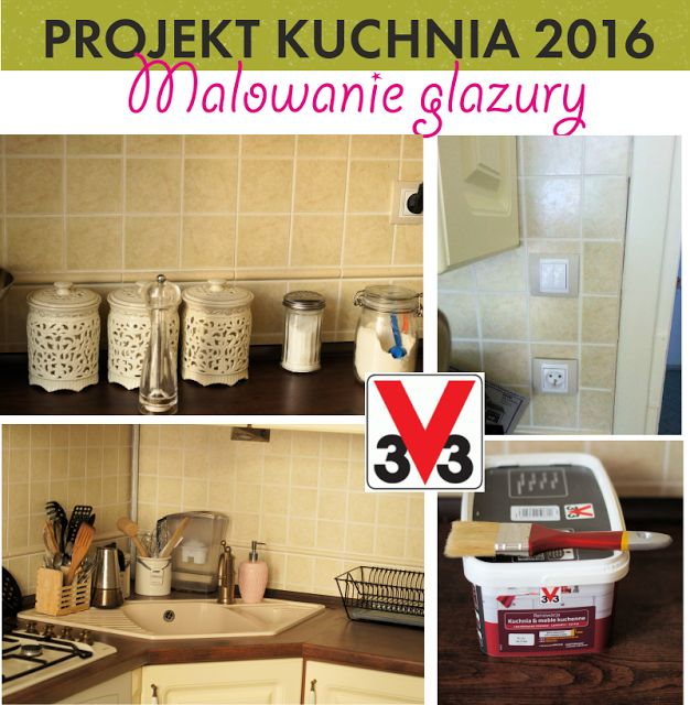 PROJEKT KUCHNIA #2: malowanie glazury w kuchni – tania i szybka metamorfoza – conchitahome.pl