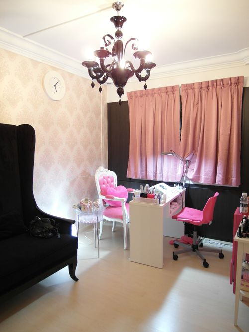 Nail salon decoration design for How to make a beauty salon at home