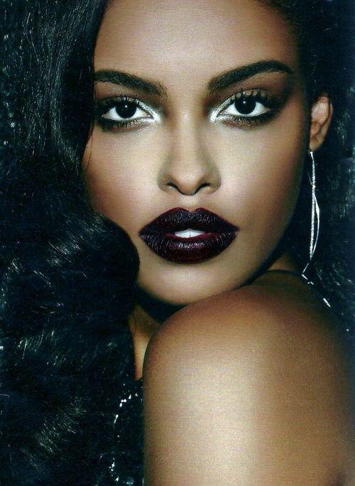 Giving Face Dark Berry Lipstick Brown Skin Make Up Darker