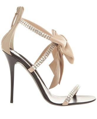 Giuseppe Zanotti beige wedding heels