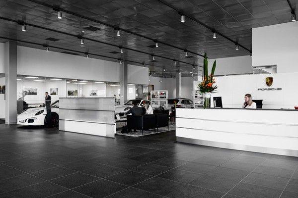 Technology and design in new Porsche dealership - INDESIGNINDESIGNLIVE