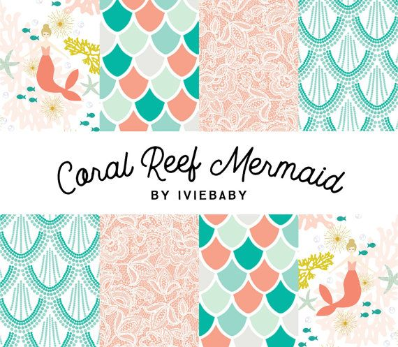 Coral Reef Mermaid Bedding. Baby Bedding. Mermaid Baby by Iviebaby