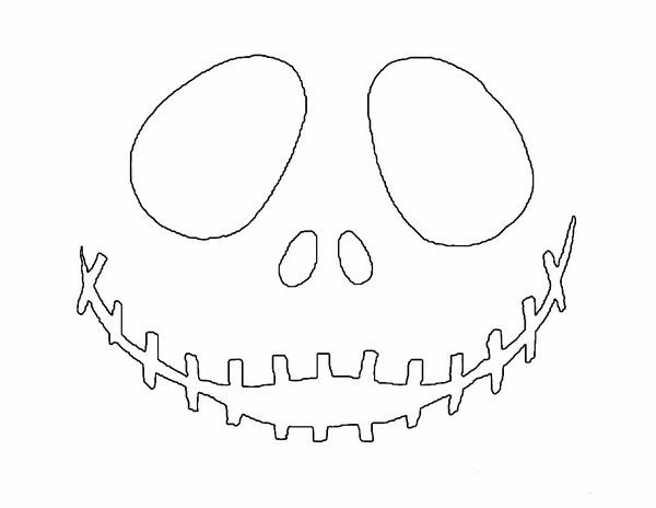 picture relating to Jack Skellington Pumpkin Stencils Free Printable identify Cost-free printable jack skellington pumpkin carving stencil