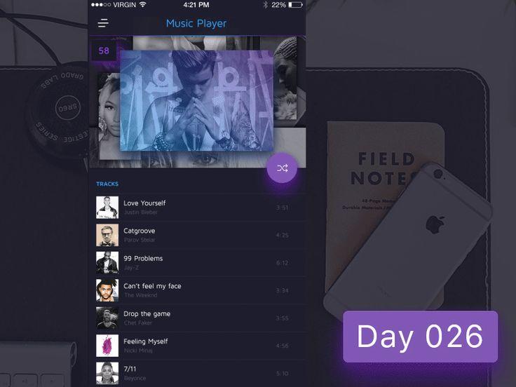 Day 026 - Music Sidemenu by Gabriel Paunescu