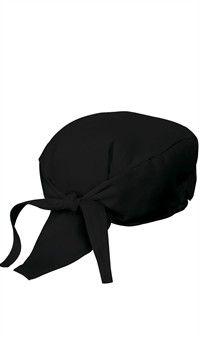Style # 3400: BLACK: Bandanas de chef