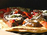 Grilled Eggplant Pizza!  This IS so amazing!