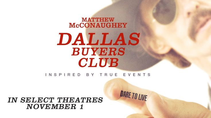 DALLAS BUYERS CLUB - Official Trailer I really want to see this because of jared leto