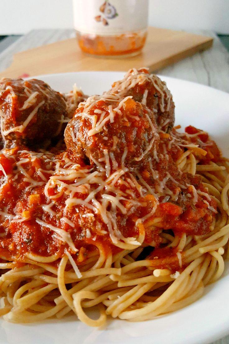 Grilled Meatballs and Spaghetti on MyRecipeMagic.com: Pasta Recipes ...