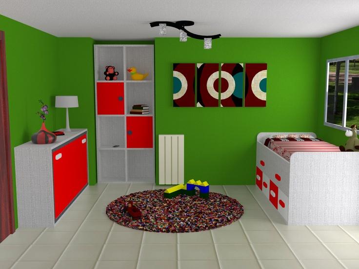 Dise o 3d d nde caben dos caben tres dise o de - Habitaciones juveniles decoracion ...