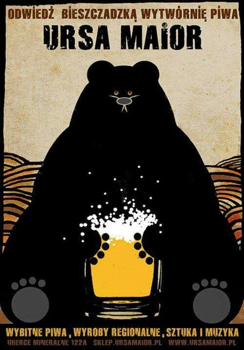 """Ursa Maior"" (2014) Polish beer promo poster by Ryszard Kaja"