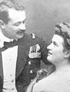 Georg Von Trapp and Agathe Whitehead Von Trapp ~ Agathe was Georg Von Trapp's first wife until she died of scarlet fever at the age of 69-years-old.