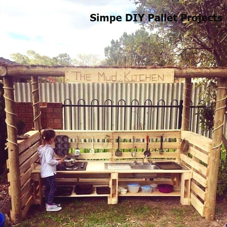 15 Incredible Do It Yourself Pallet Ideas In 2020 Mud Kitchen For Kids Mud Kitchen Backyard Pallet Ideas