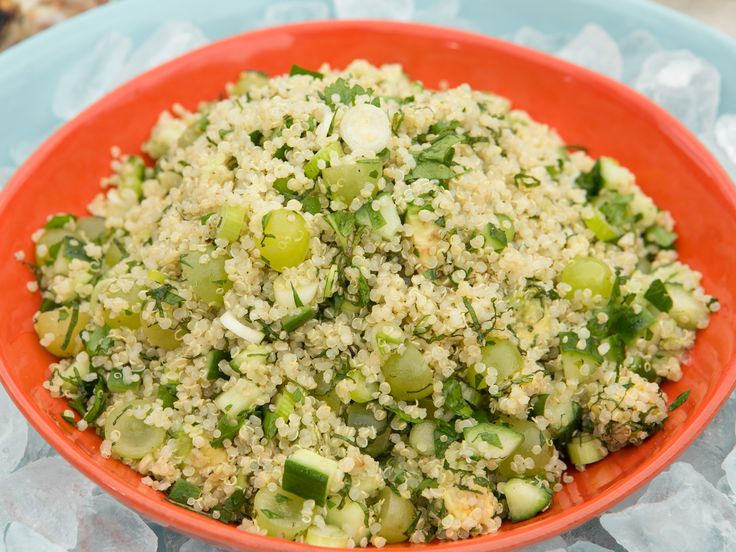 Get this all-star, easy-to-follow Green Grape and Avocado Quinoa Salad recipe from Katie Lee