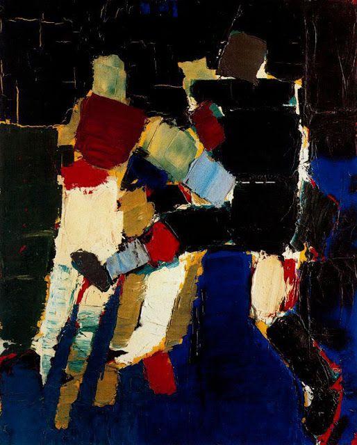 De Staël, Nicholas - arte abstracto, futbolistas