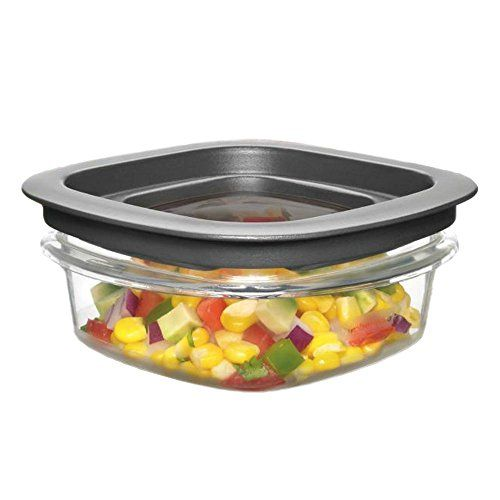 Rubbermaid New Premier Food Storage Container 1.25-Cup Grey (3-Pack)