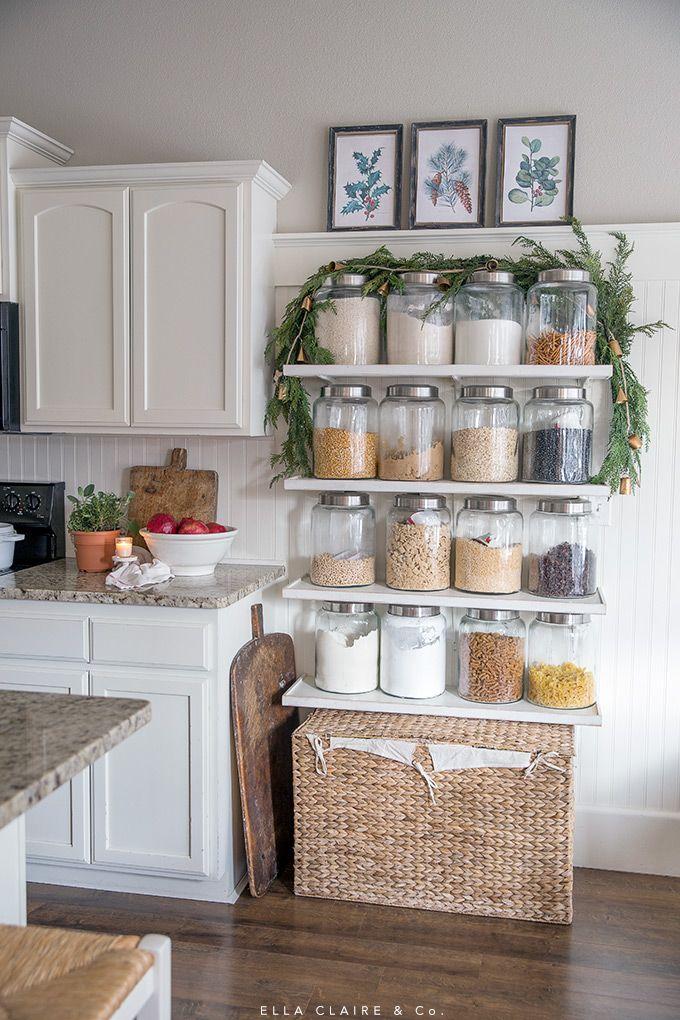 Christmas Home Tour Kitchen Ideas Pinterest Christmas