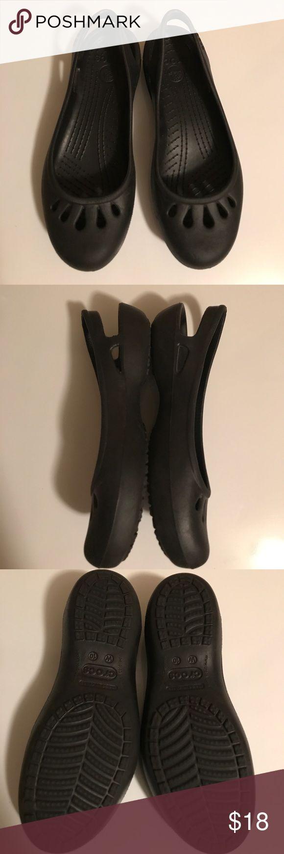 ✨Women's Crocs Kadee Work Flats✨ The Kadee Work Flat is a lightweight, versatile flat based on one of Crocs' most popular women's styles. Heel cutouts help with breathability. Size 10W CROCS Shoes Slippers
