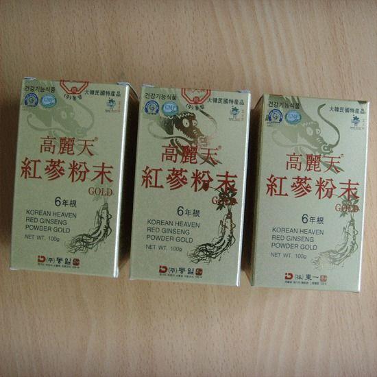 6-YEAR KOREAN HEAVEN RED GINSENG POWDER GOLD(100g*3Bottles) / Aphrodisiac Herb ! #KOREANHEAVENREDGINSENG