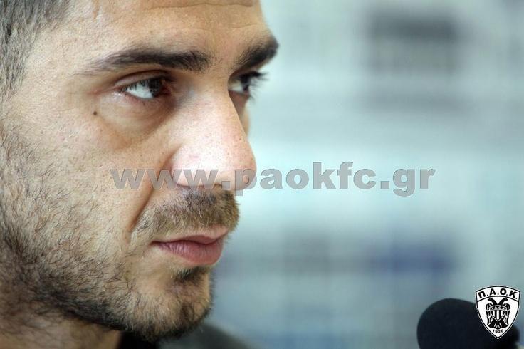 Kostas Katsouranis at press conferences