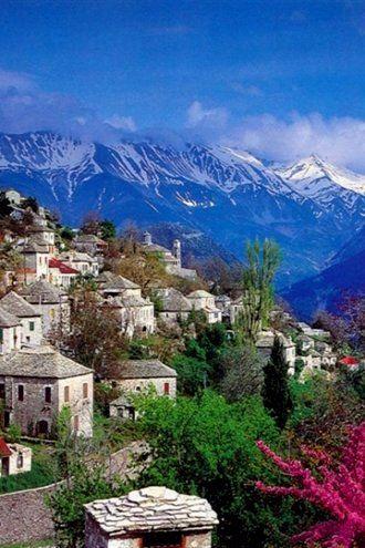 Kalarrytes Village, Epirus, Mountainous Greece