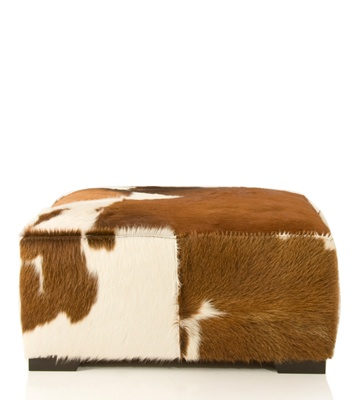 pascal cow hide ottoman can you picture one with a belted galloway stripe now