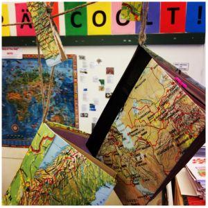 GOTD anteckningsböcker som hänger i klassrummet