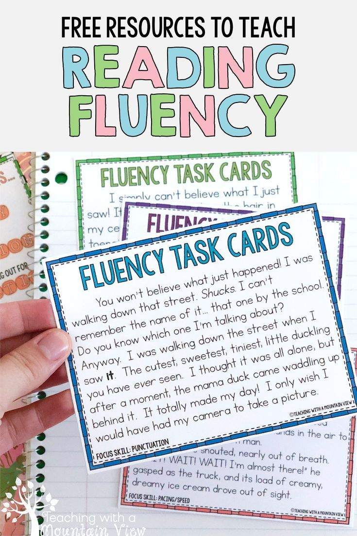 Teaching Oral Reading Fluency Reading Fluency Reading Fluency Activities Oral Reading Fluency Free printable oral reading fluency