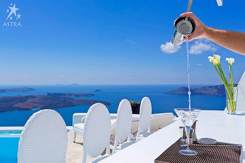 Signature cocktails with a view! Pool Bar - Astra Suites, Imerovigli, Santorini, Greece