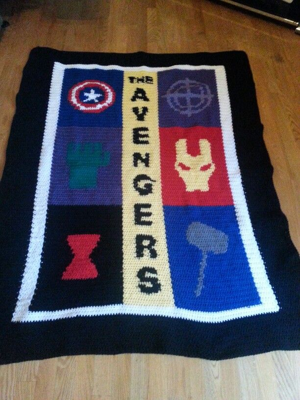 Avengers Blanket :D | Crochet Projects that I made | Knit ...