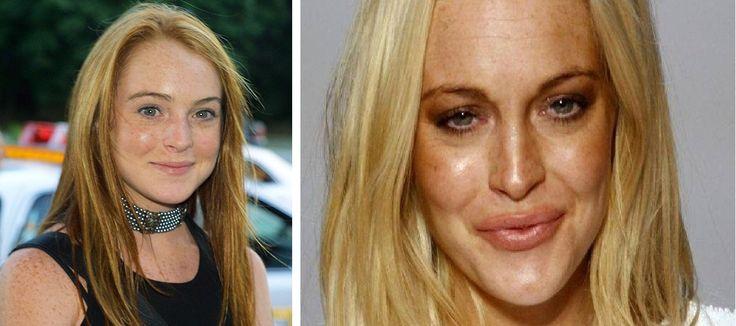 Lindsay Lohan - Esta actriz fue muy famosa por la película juego de gemelas y muchos otros éxitos más.  Se dice que tiene problemas con su padre quien es un abusador y golpeador. También a tenido problemas con las drogas, robos, alcoholismo y escándalos.