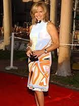 Katie Couric isn't afraid to wear a bold colored outfit - perfect for the spring.