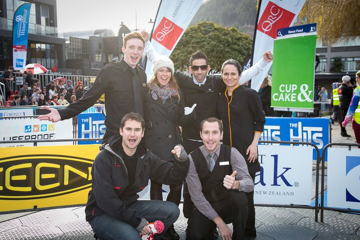 The St Moritz Team at the QRC Hospitality Race. Queenstown Winter Festival