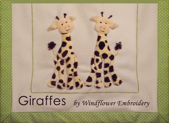 Giraffes Applique Kit (copyright Jan Kerton) available from Australian Needle Arts. To view the full range and details please visit http://www.australianneedlearts.com.au/applique-blankets-jan-kerton