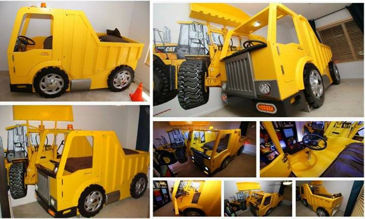 1000 images about kids rooms on pinterest loft beds buzz lightyear and bunk bed with slide - Kids dump truck bed ...