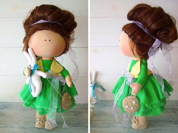 Fabric doll Cloth doll Muñecas Baby doll Textile doll Tilda