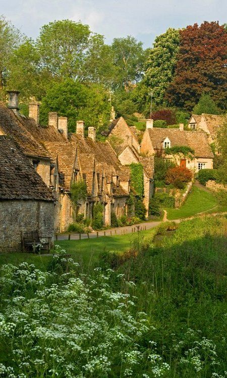 Bibury, England. Just imagine all the gossip that happens here...if BBC isn't full of shit.