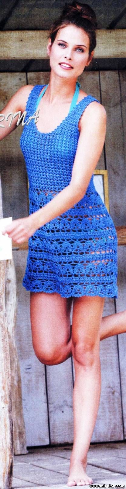 Blue dress with diagrams