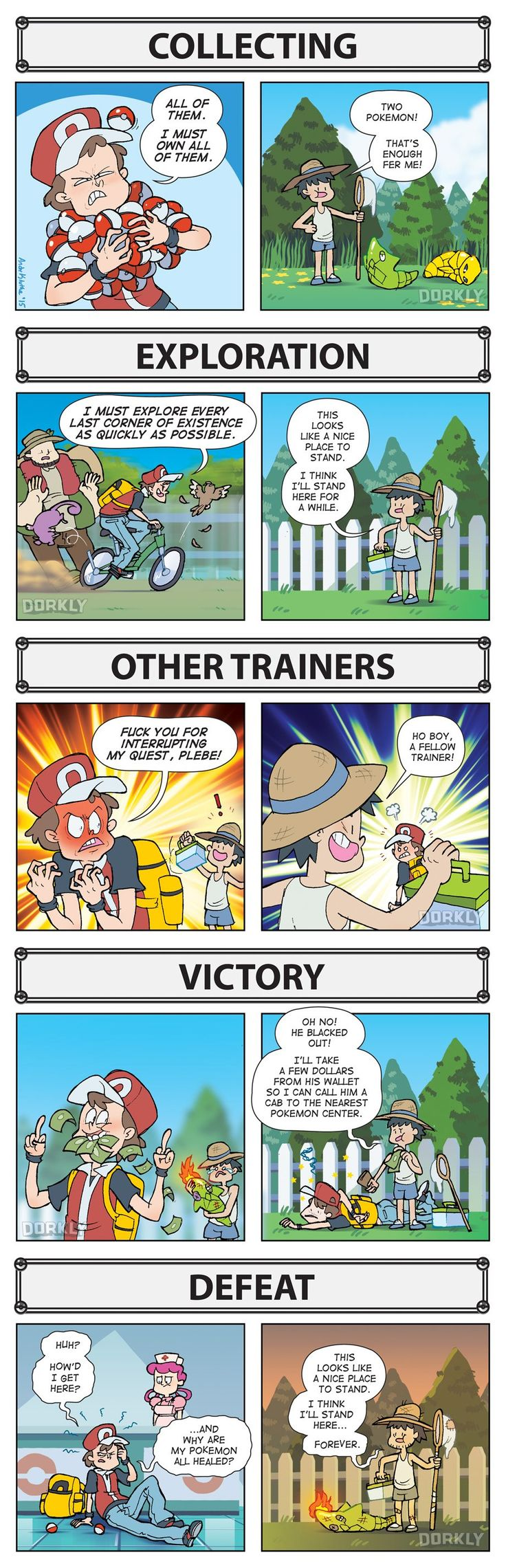 How YOU Play Pokémon vs. How NPCs Play Pokémon Video Games / Nintendo / Pokemon Dorkly list / Good Guy Pokémon NPC