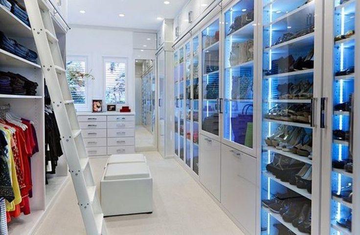 closet with LED lighting