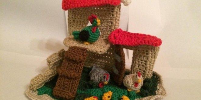 17° schema sal presepe all'uncinetto: il pollaio - La Torre di Cotone