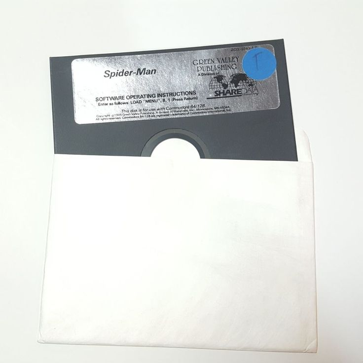 Spiderman Spider-Man Commodore 64 128 Game disk only Spider Man 1985 green valle #Commodore64