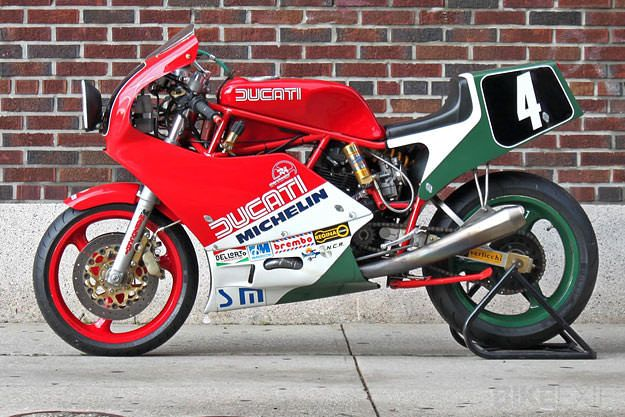 I'm a sucker for the endurance racer look, especially if twin headlamps are involved. And this is one of the best examples I've seen for a long time. It's owned by Gregory Rathe, and there's an interesting history behind it. In 1985, Ducati made a replica of its Pantah-based TT racers called the 750 F1.…