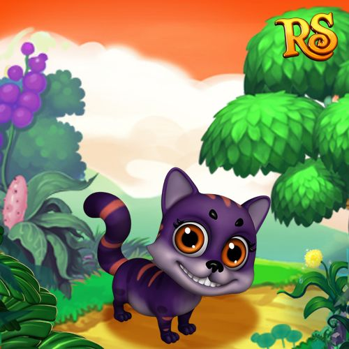 This little Cheshire Cat looks like it's up to no good! #royalstorygame #royalzoo #royalpet #royalanimals