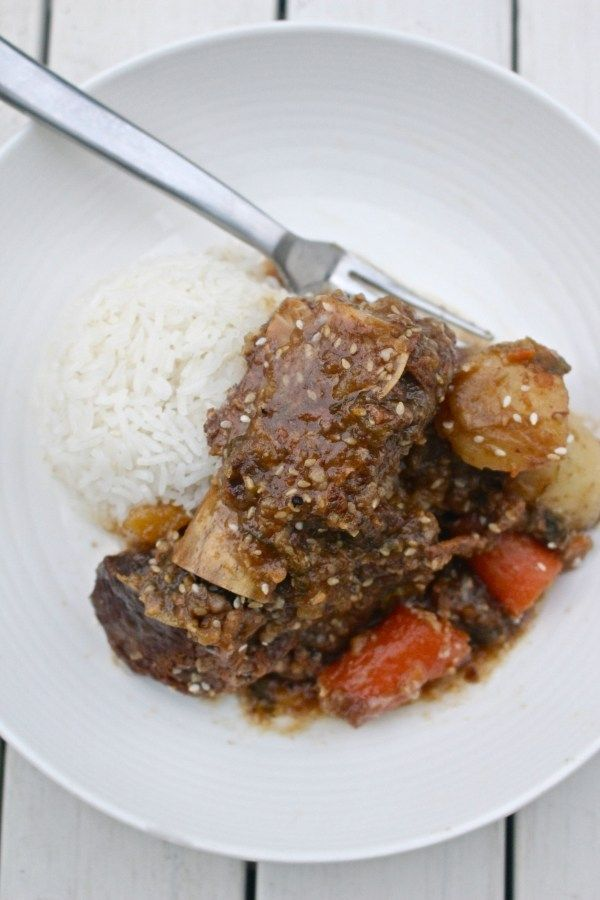 Korean Beef Short Ribs Recipe - a one pot dish for the whole family